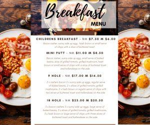 Breakfast Menu for Facebook