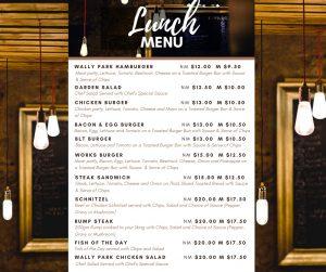 Lunch Menu for Facebook