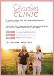 Ladies Clinics - Wednesdays